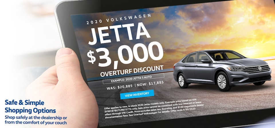 Save $3,000 Off MSRP on Any New, In Stock 2020 Volkswagen Jetta!