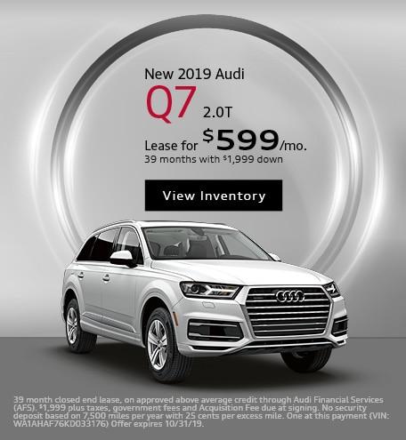 New 2019 Audi Q7 2.0T