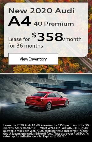 New 2020 Audi A4 40 Premium