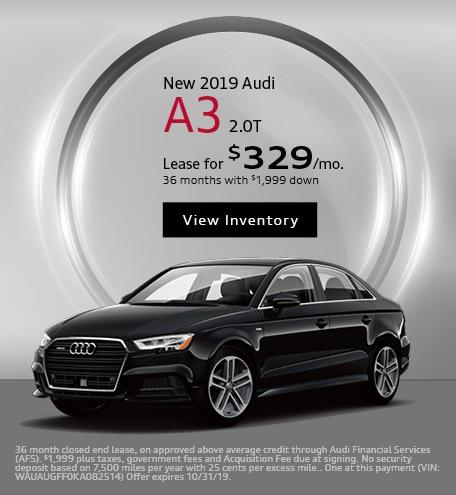 New 2019 Audi A3 2.0T