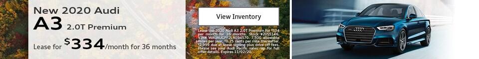 New 2020 Audi A3 2.0T Premium