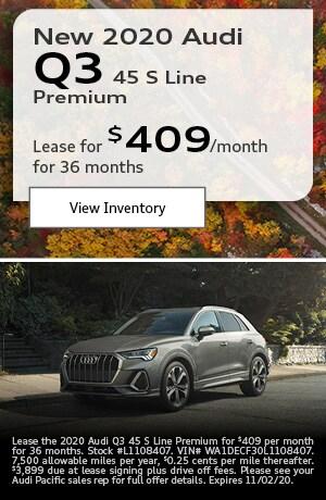 New 2020 Audi Q3 45 S Line Premium