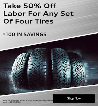 Take 50% Off Labor For Any Set Of Four Tires