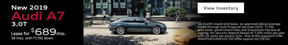 New 2019 Audi A7 3.0T
