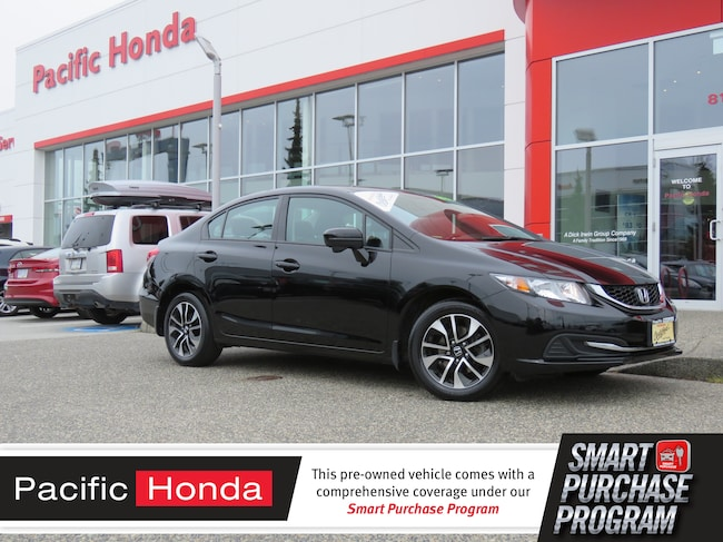 2015 Honda Civic EX - CERTIFIED,WARRANTY,BLUETOOTH,BUP CAM,PUSH STA Compact 2HGFB2F51FH005670