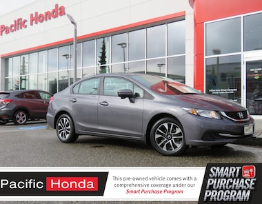2015 Honda Civic EX - 0 claims,bluetooth,backup cam,alloy rims,sunr Compact 2HGFB2E56FH034602