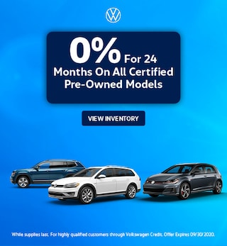 0% For 24 Months On All Certified Pre-Owned Models