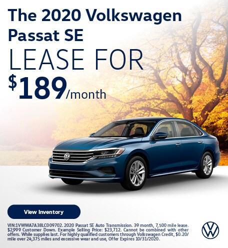 The 2020 Volkswagen Passat SE
