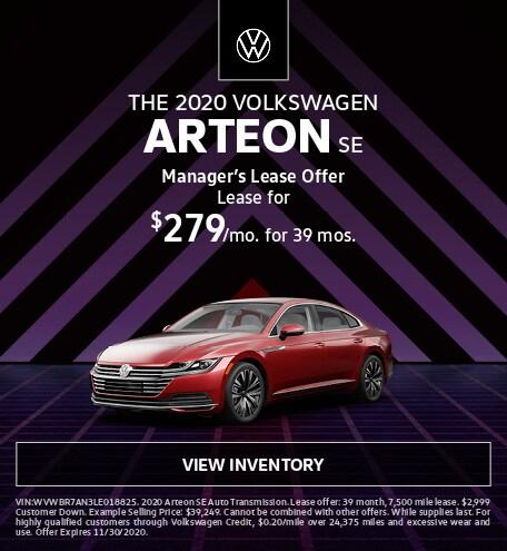 The 2020 Volkswagen Arteon SE