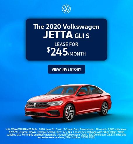 The 2020 Volkswagen Jetta GLI S