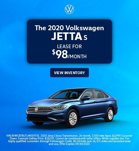 The 2020 Volkswagen Jetta S