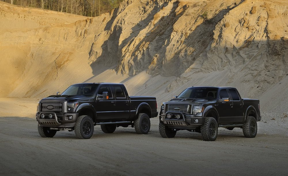 F 150 And F 250 Black Ops Packey Webb Ford