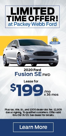 0.0% APR for 72 months on select Ford Fusion models