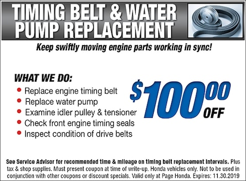 Timing Belt & Water Pump Replacement