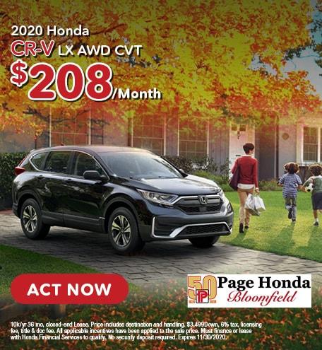 2020 Honda CR-V LX AWD CVT - Lease