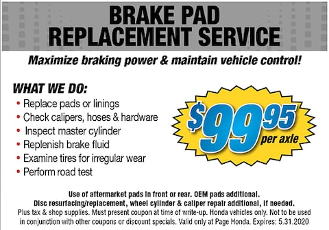 Brake Pad Replacement Service