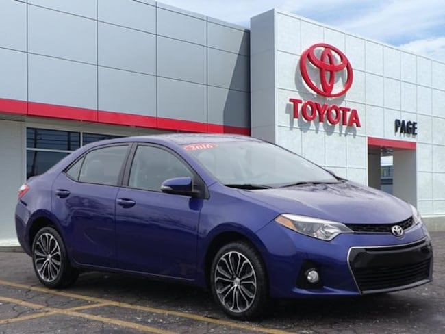 Certified pre-owned Toyota vehicle 2016 Toyota Corolla S Plus Sedan for sale near you in Southfield, MI