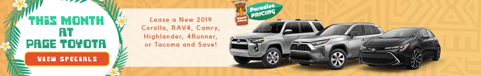 July 2019 Page Toyota Specials