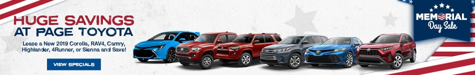 Huge Savings at Page Toyota