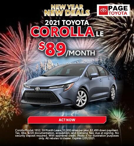 2021 Corolla Lease