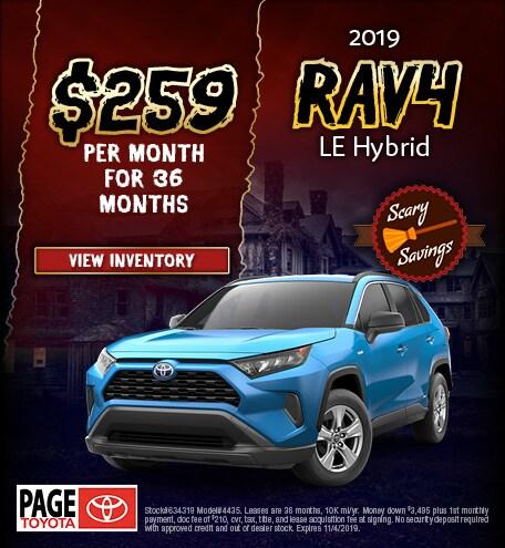 2019 RAV4 Hybrid Lease