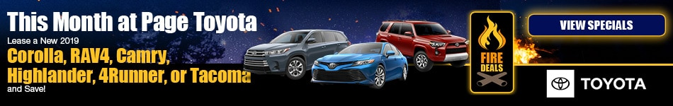 August 2019 Lease Specials