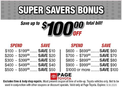 Super Savers Bonus