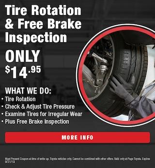 Tire Rotation & Free Brake Inspection