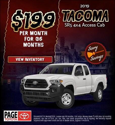 2019 Tacoma Lease