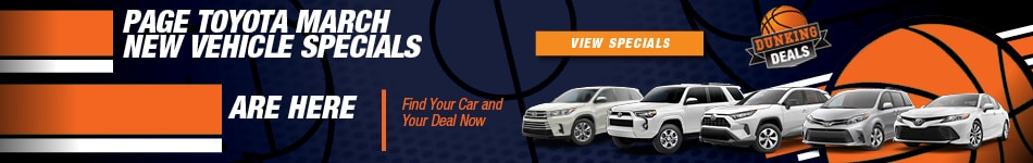 Page Toyota March New Vehicle Specials