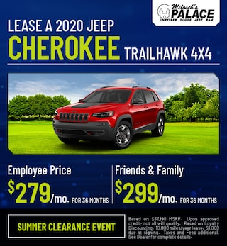 Lease a 2020 Jeep Cherokee Trailhawk 4X4