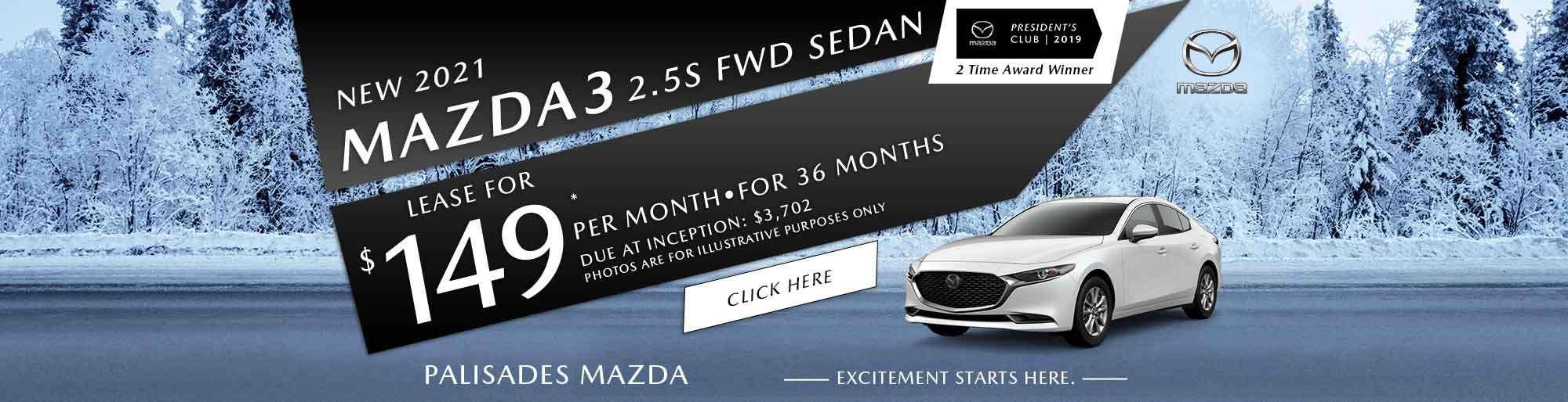 Mazda3 lease deal image
