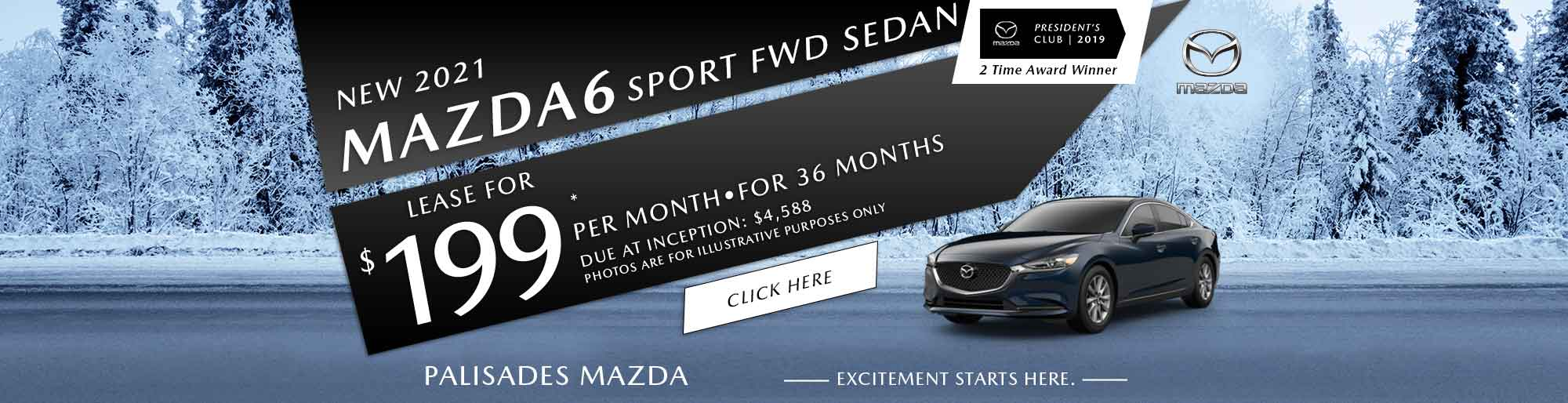 Mazda6 lease deal image