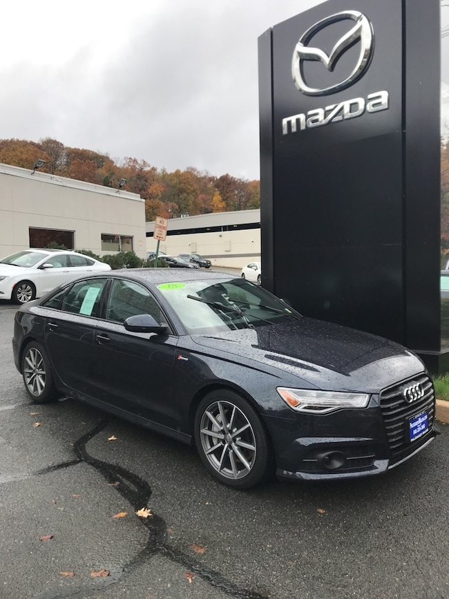 used moonlight blue metallic 2018 audi a6 in for sale near nyc in danbury ct stock no m10146u. Black Bedroom Furniture Sets. Home Design Ideas