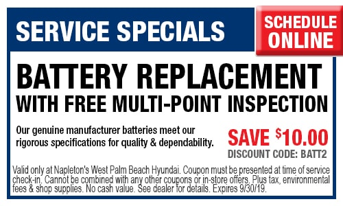 Hyundai Service Specials Hyundai auto shop West Palm Beach