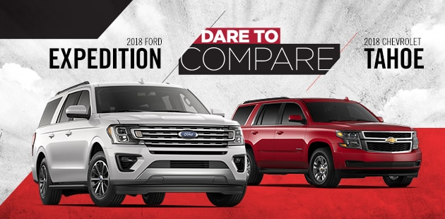 Dare to Compare: 2018 Ford Expedition vs 2018 Chevrolet Tahoe