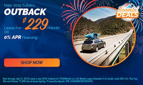 July - 2019 Outback Offers