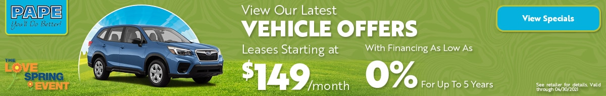 View Our Latest Vehicle Offers