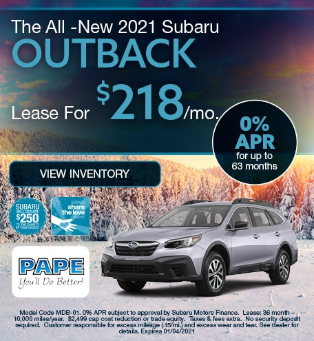 The All -New 2021 Subaru Outback