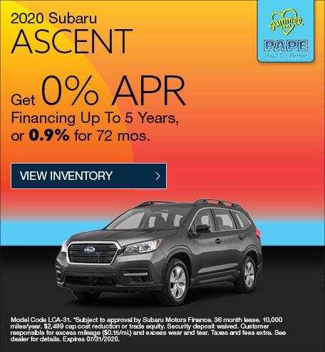 2020 Subaru Ascent July Offer