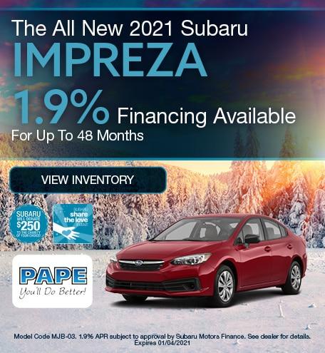 The All New 2021 Subaru Impreza