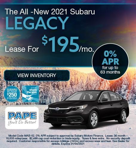 The All -New 2021 Subaru Legacy