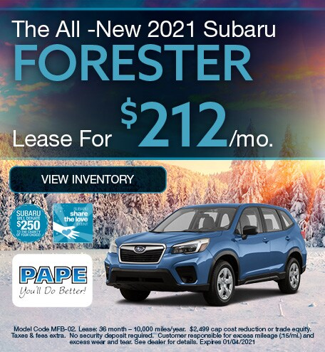 The All -New 2021 Subaru Forester