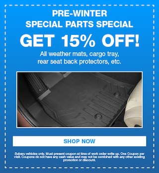 Pre-Winter Special Parts Special
