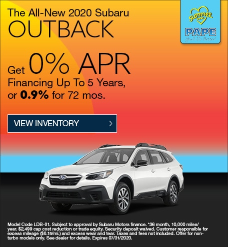 2020 Subaru Outback July Offer