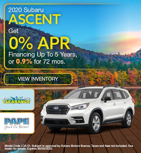 2020 Subaru Ascent September Offer