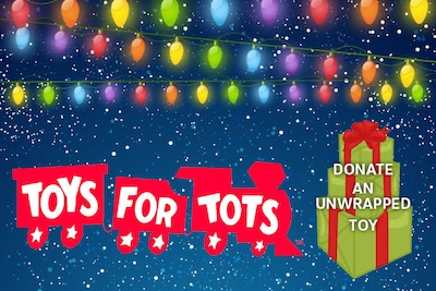 5% off any purchase when you donate a new toy for Toys for Tots