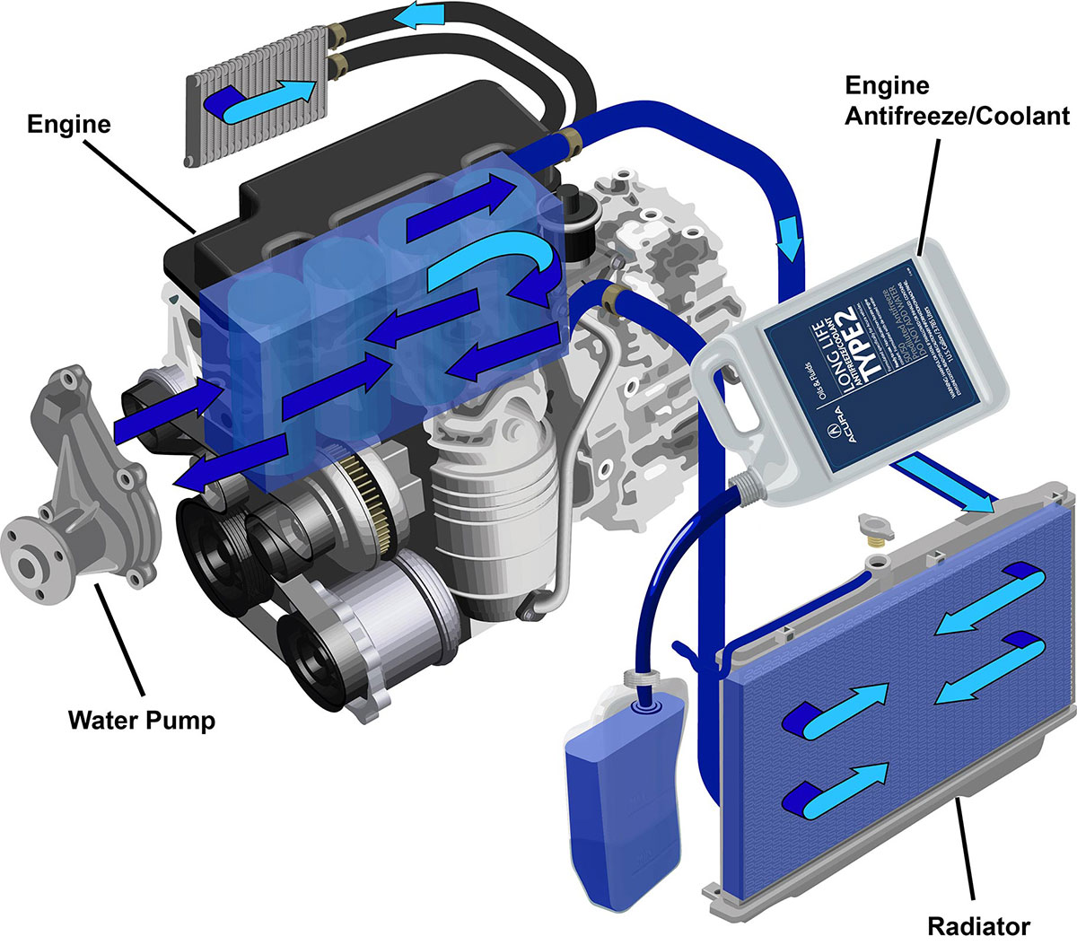 Acura Engine Antifreeze Coolant Service Technical Resources Corrosion Around Cooling System Click Here For Full Size Image