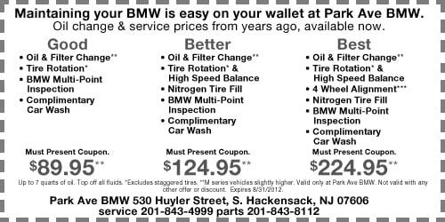 Oil Change Bmw New Jersey Special Park Avenue Bmw