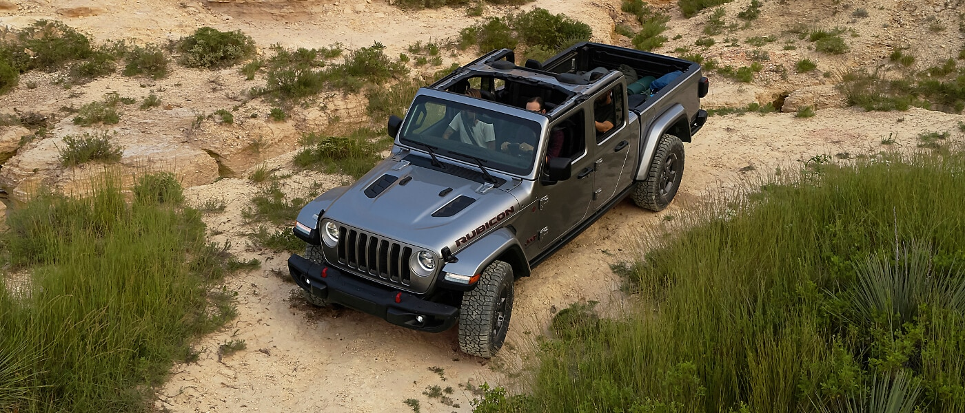 Grey 2020 Jeep Gladiator in desert